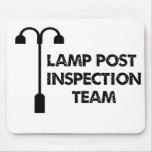 Equipo de inspección del poste de la lámpara alfombrillas de raton