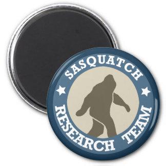 Equipo de investigación de Sasquatch Imán Redondo 5 Cm
