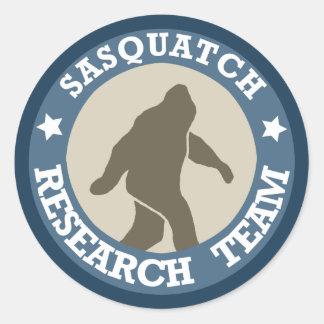 Equipo de investigación de Sasquatch Etiqueta Redonda