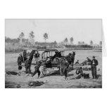 Equipo de la ambulancia de la guerra civil tarjeta