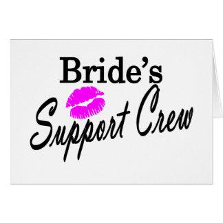 Equipo de la ayuda de las novias tarjeta de felicitación