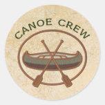 Equipo de la canoa etiqueta