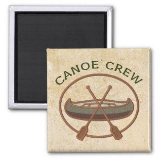 Equipo de la canoa imán cuadrado