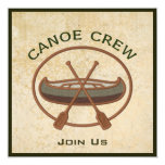 Equipo de la canoa invitacion personal