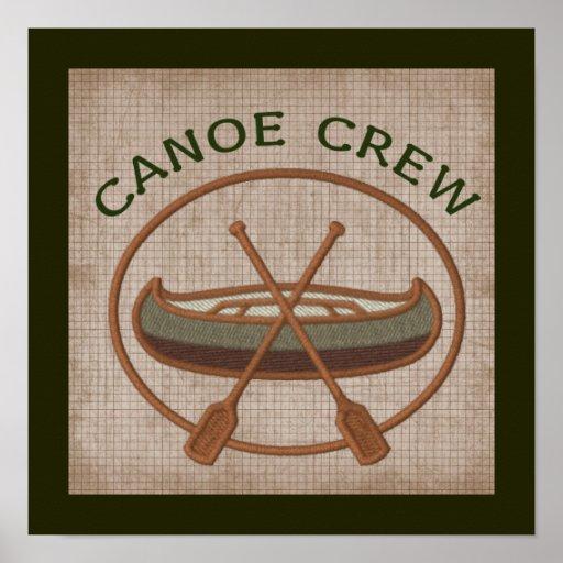 Equipo de la canoa impresiones