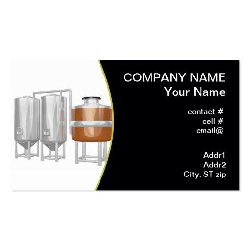 Equipo de la cervecería de la cerveza tarjetas personales