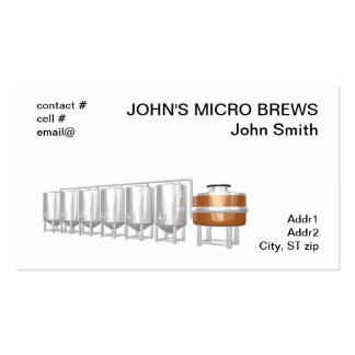 Equipo de la cervecería de la cerveza plantillas de tarjeta de negocio