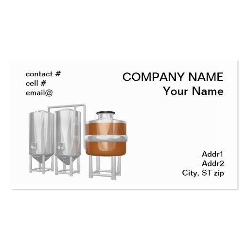 Equipo de la cervecería de la cerveza tarjetas de visita