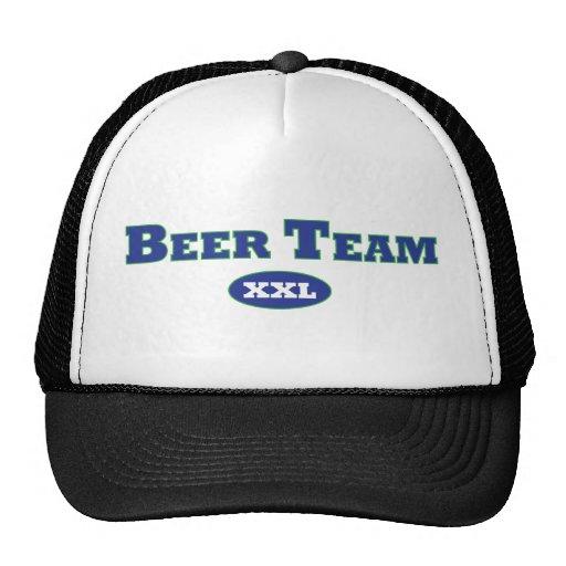 equipo de la cerveza gorras de camionero