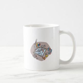 Equipo de la cometa taza de café