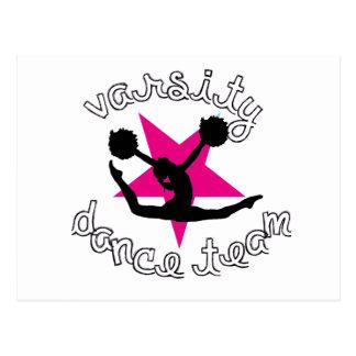 Equipo de la danza de Pom Tarjeta Postal