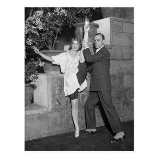 Equipo de la danza del cabaret, los años 20 postales