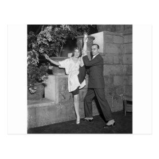 Equipo de la danza del cabaret, los años 20 tarjeta postal