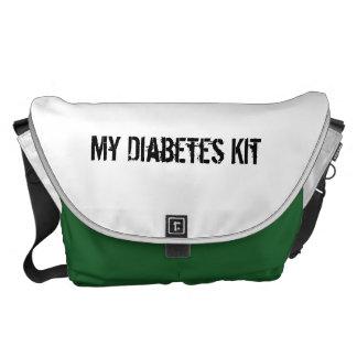 Equipo de la diabetes bolsas de mensajería