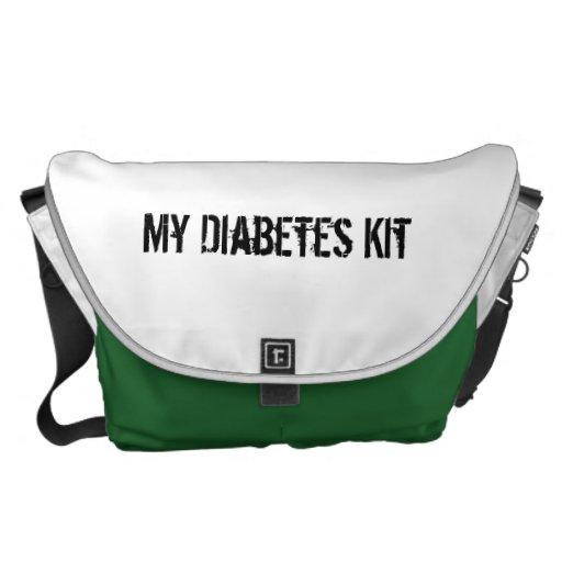 Equipo de la diabetes bolsas de mensajeria