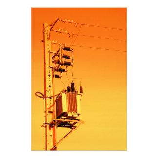 Equipo de la distribución de la electricidad arte fotográfico