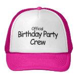 Equipo de la fiesta de cumpleaños (negro) gorro