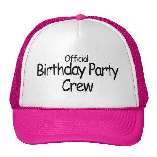 Equipo de la fiesta de cumpleaños (negro) gorros bordados