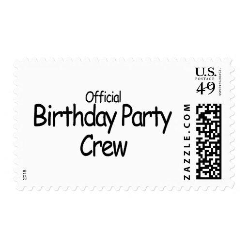 Equipo de la fiesta de cumpleaños (negro) sello