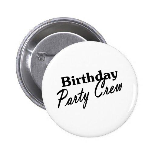Equipo de la fiesta de cumpleaños pin