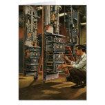 Equipo de la fijación del técnico de la radio del tarjeta de felicitación
