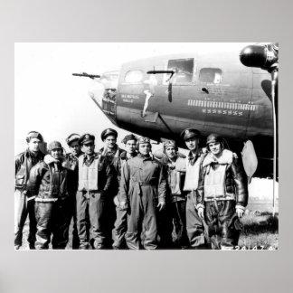 """Equipo de la fortaleza """"belleza del vuelo B-17 de  Impresiones"""