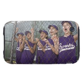 Equipo de la liga pequeña que anima en cobertizo iPhone 3 tough coberturas