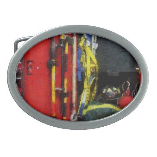 Equipo de la lucha contra el fuego hebilla de cinturon oval