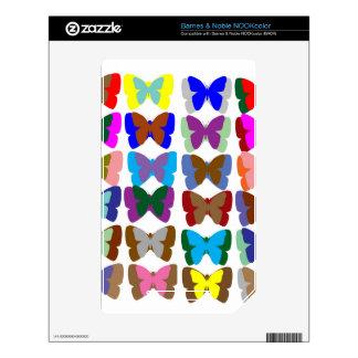 EQUIPO de la mariposa: Aprenda los COLORES y la CU Calcomanía Para NOOK Color