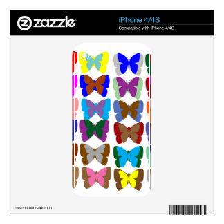 EQUIPO de la mariposa: Aprenda los COLORES y la CU Skin Para El iPhone 4