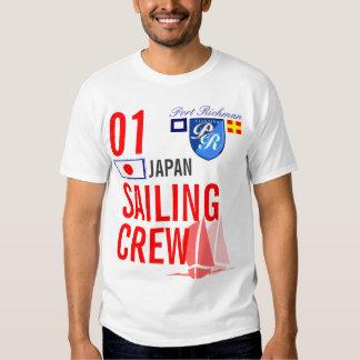 Equipo de la navegación de Japón náutico Camisas