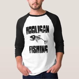 Equipo de la pesca del gamberro - 3/4 manga básica camisas