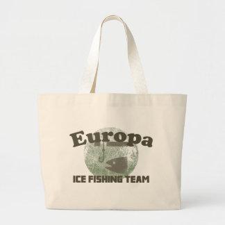 Equipo de la pesca del hielo del Europa Bolsas De Mano