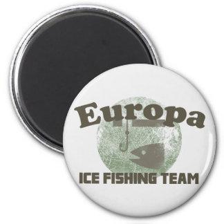 Equipo de la pesca del hielo del Europa Imanes Para Frigoríficos