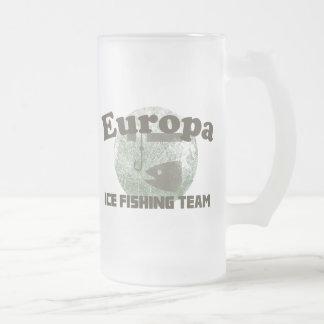 Equipo de la pesca del hielo del Europa Taza De Cristal