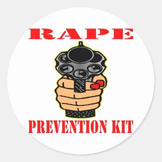 Equipo de la prevención de la violación (arma pegatina redonda