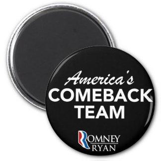 Equipo de la reaparición de Romney Ryan América re Imán Redondo 5 Cm