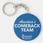 Equipo de la reaparición de Romney Ryan América re Llaveros