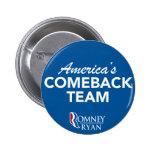 Equipo de la reaparición de Romney Ryan América re Pins