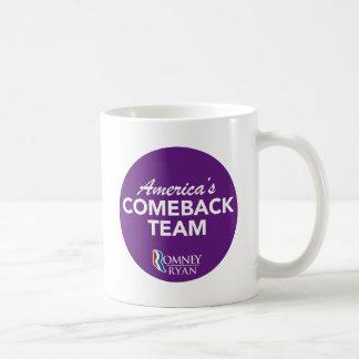 Equipo de la reaparición de Romney Ryan América re Taza De Café
