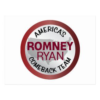 Equipo de la reaparición de Romney Ryan América Postal