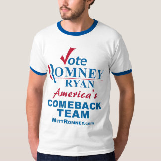 Equipo de la reaparición de Romney Ryan del voto Playera