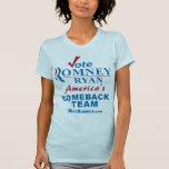 Equipo de la reaparición de Romney Ryan del voto Camiseta