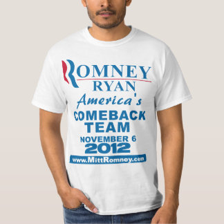 Equipo de la reaparición de Romney Ryan Playera