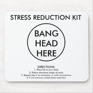 Equipo de la reducción del estrés alfombrilla de ratón