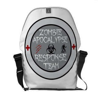 Equipo de la respuesta de la apocalipsis del zombi bolsa de mensajeria