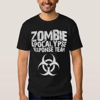 Equipo de la respuesta de la apocalipsis del zombi playeras