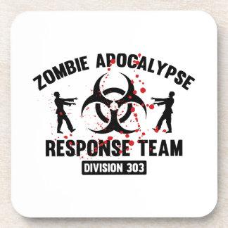 Equipo de la respuesta de la apocalipsis del zombi posavasos de bebidas