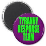 Equipo de la respuesta de la tiranía imán para frigorifico