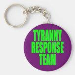 Equipo de la respuesta de la tiranía llaveros